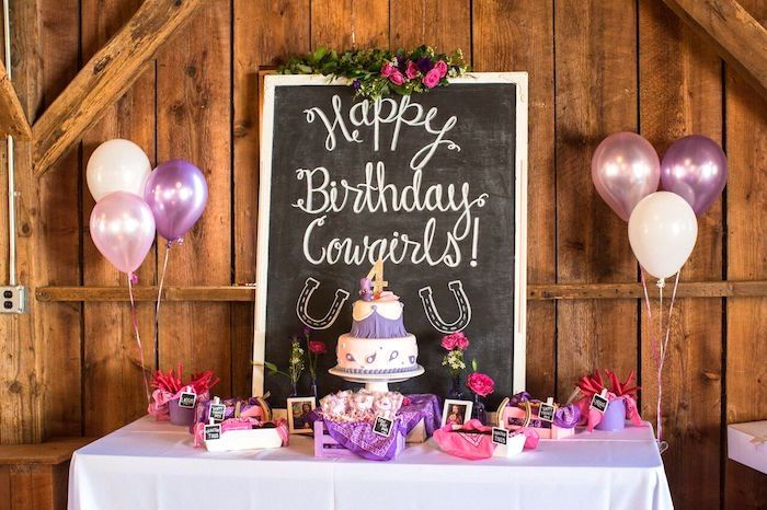 cowgirl birthday party roundup