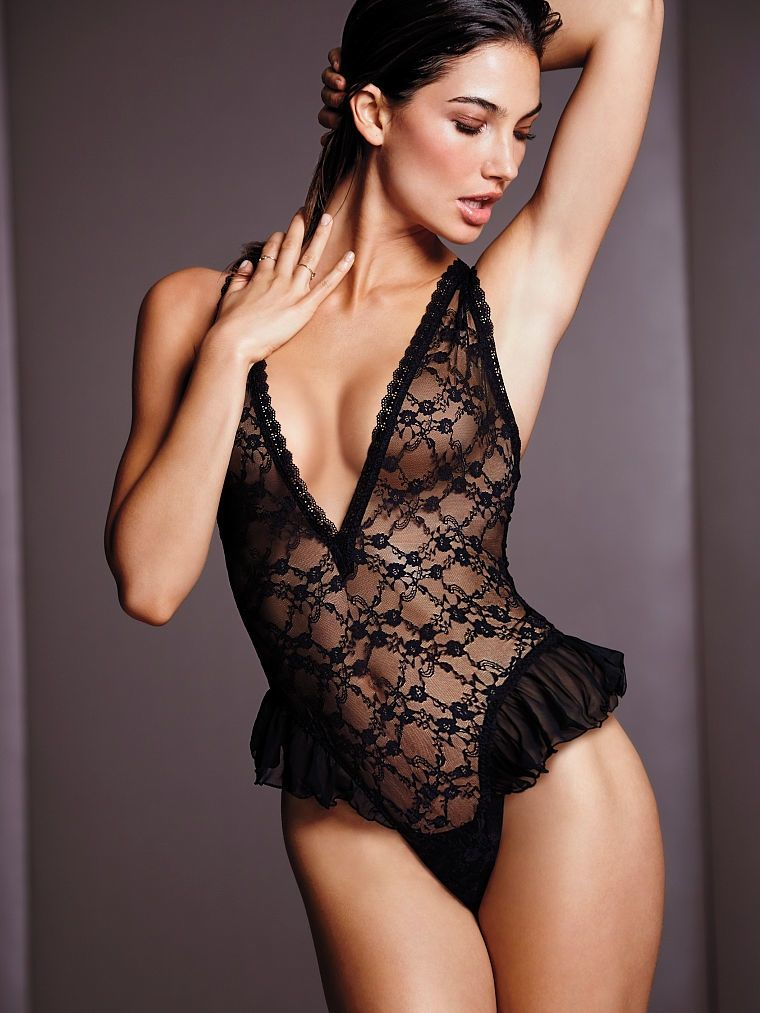 30a112c1460 Lily Aldridge Brings the Heat in Victoria s Secret Lingerie Shoot ...