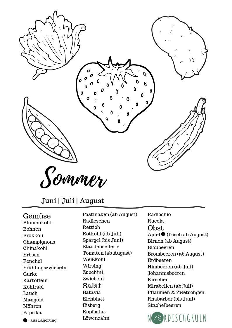 Saisonkalender Sommer Obst Und Gemuse Pdf Kostenlosen Saisonkalender Zum Herunterladen Saisonkalender Obst Und Gemuse Saisonkalender Obst Obst Und Gemuse