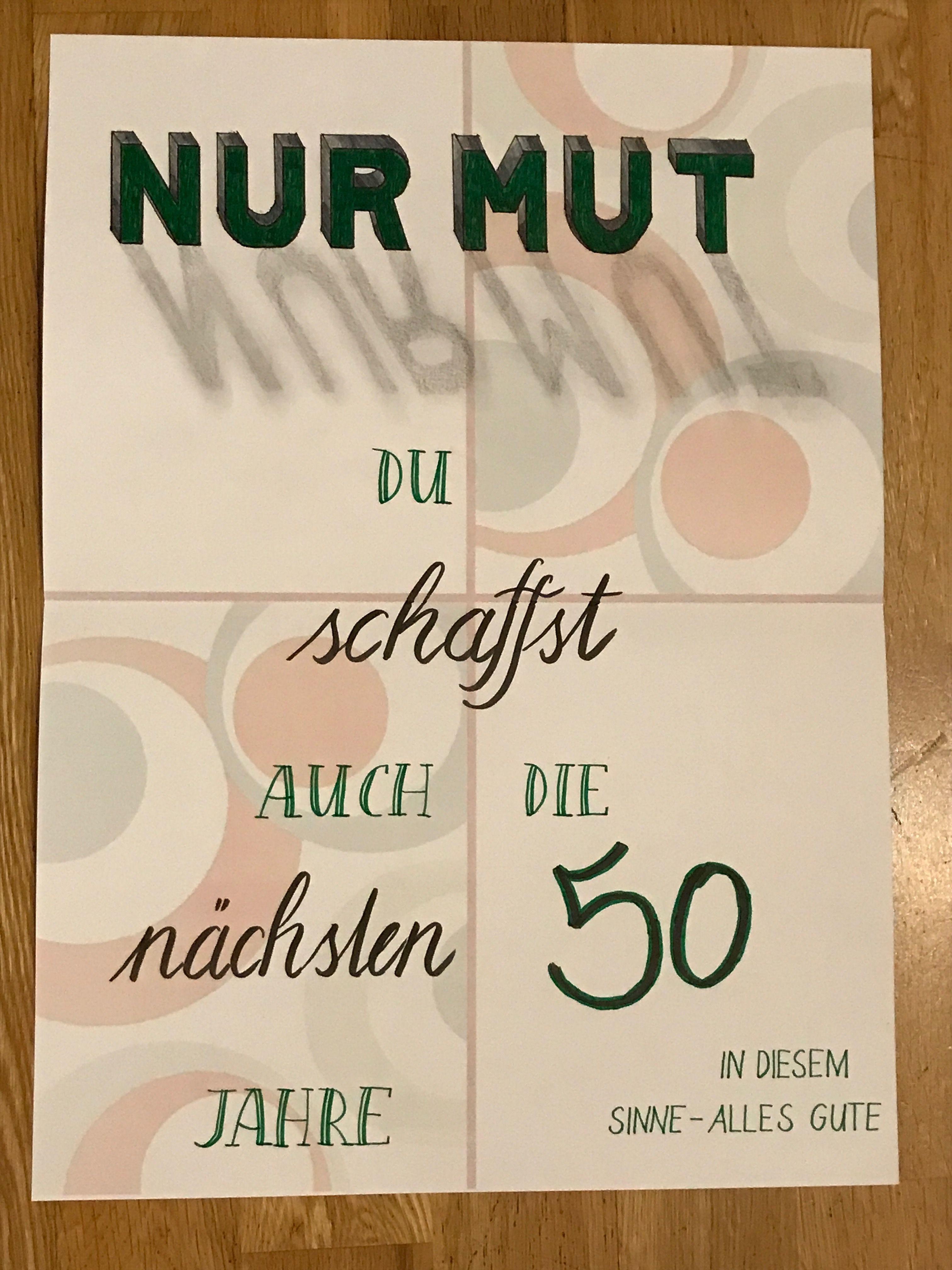 Kalligraphie 50 Geburtstag 50 Geburtstag Leporello