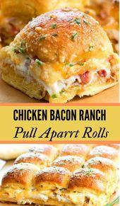 Chicken Bacon Ranch Pull Apart Rolls  Chicken Bacon Ranch Pull Apart Rolls