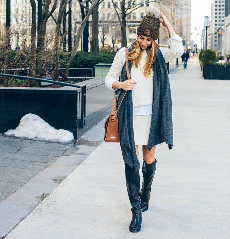 How do you style an outfit with pom beanies?