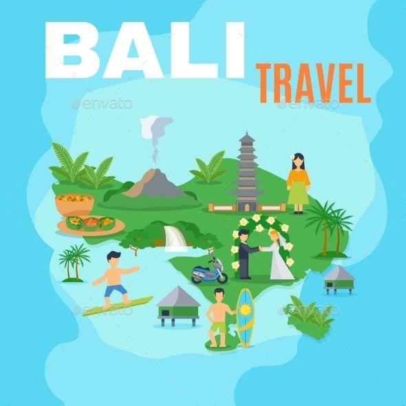 Background Map Bali Travel Travel Vectors Graphics Travel