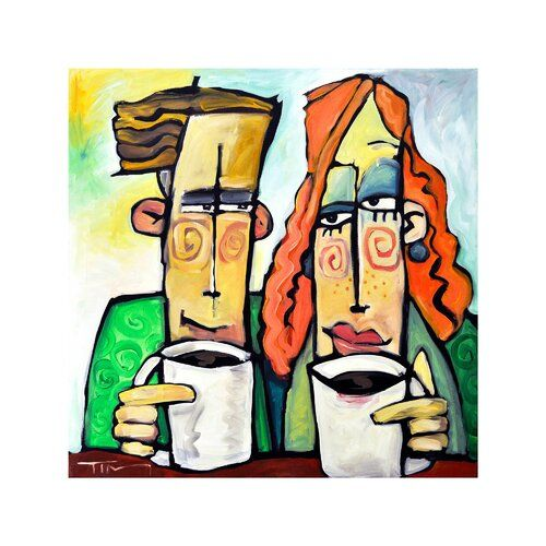 Happy Larry Leinwandbild Coffee Date von Tim Nyberg | Wayfair.de