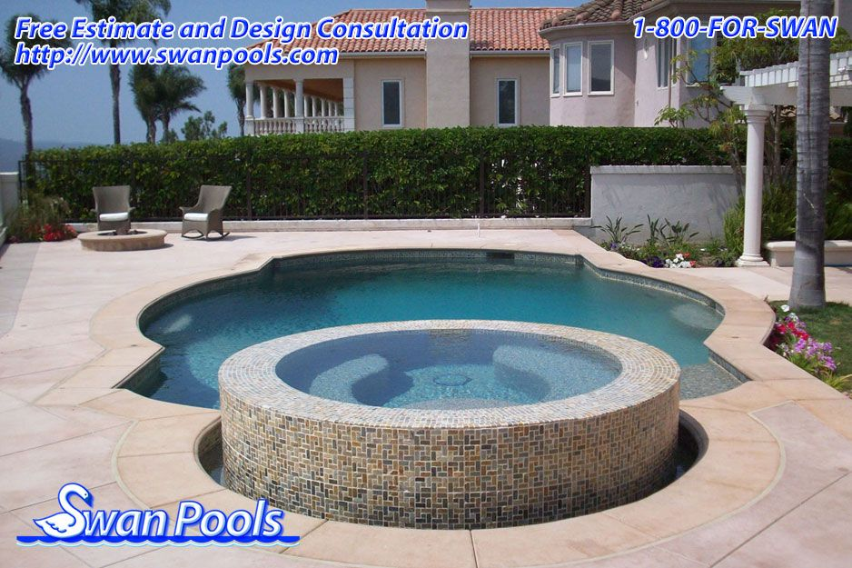 Pebble - Tahoe Blue.    Building Quality Swimming Pools Since 1954.  Quality. Dependable. Expertise. Tenure.      For free swimming pool and spa design consultation and estimate, visit  swanpools.com/Swan_Pools_Company/forms/swimming-pool-comp..., or contact us at 1-800-367-7926.