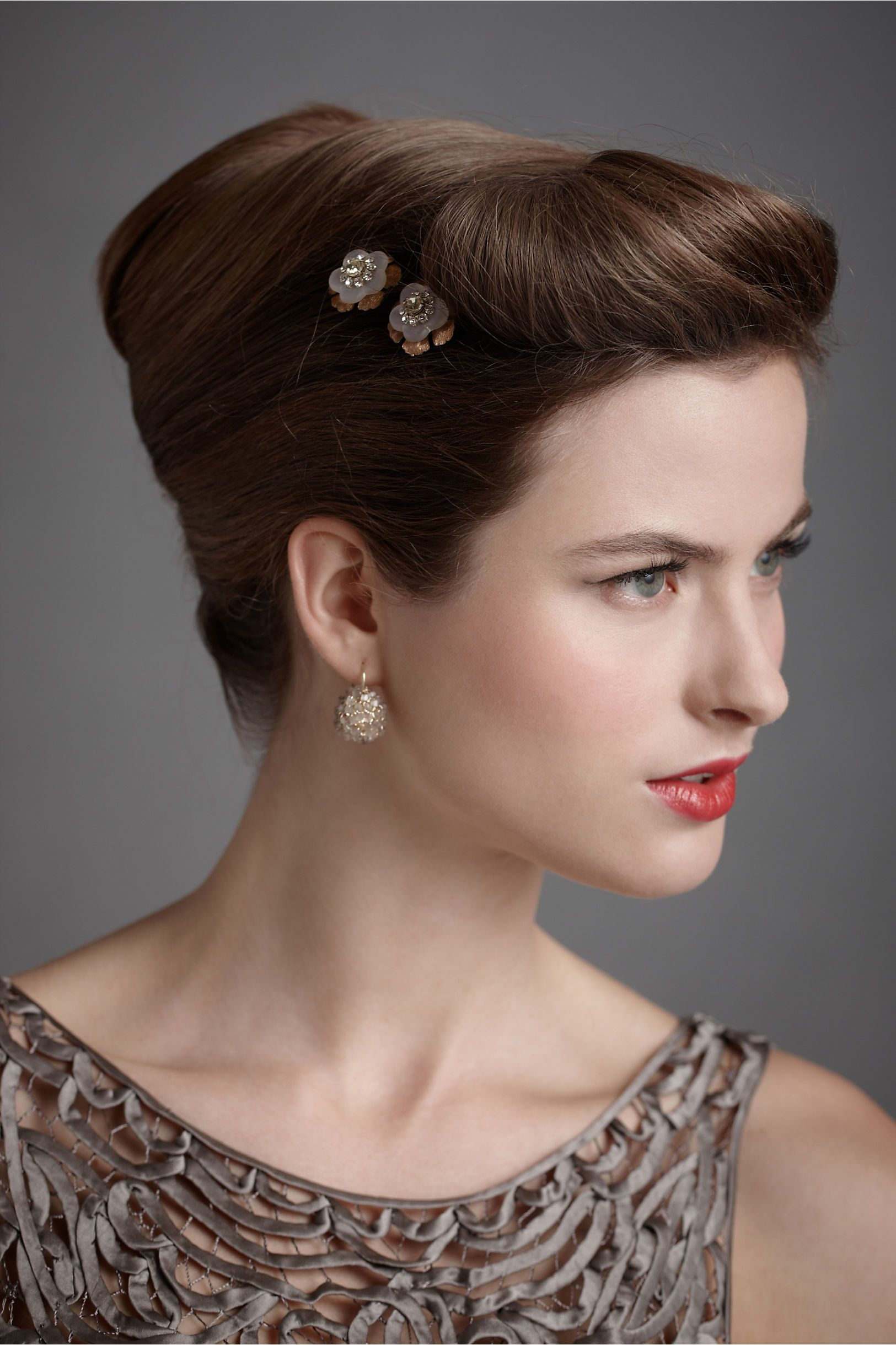 Blithe Blossom Bobbies | Vintage hairstyles, French twist hair, Easy vintage hairstyles