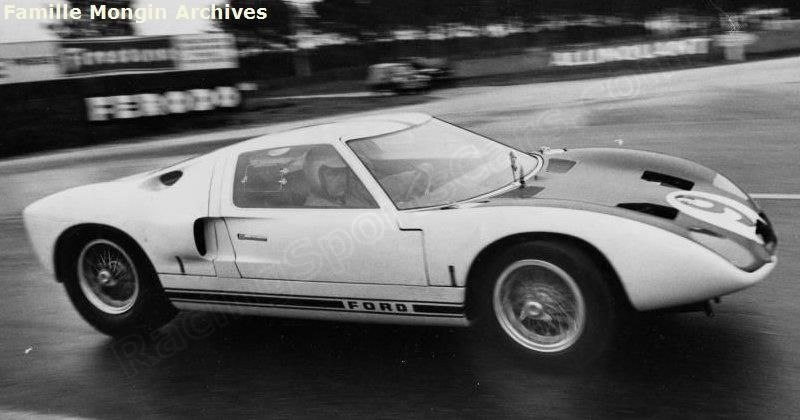 9 Ford Gt40 Gt 101 Ford Advanced Vehicles Le Mans Test 1964