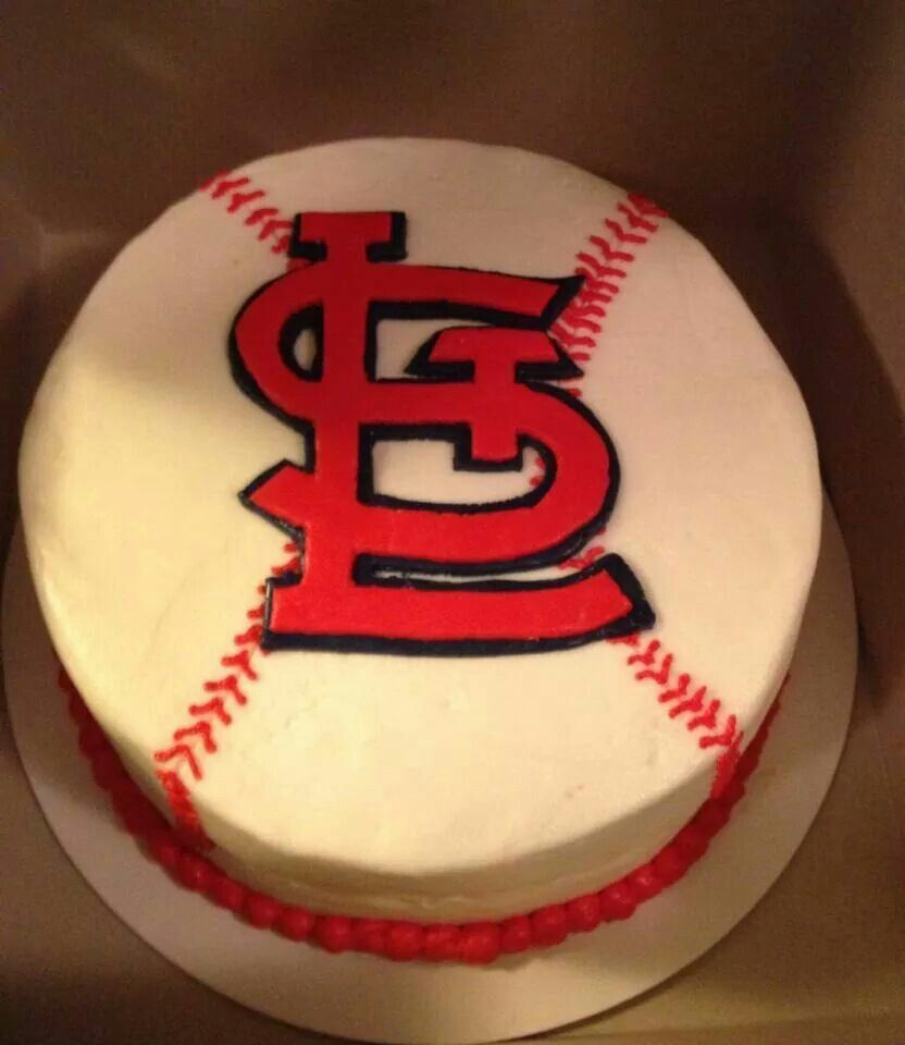 Admirable St Louis Cardinals Baseball Cake Crock Pot Desserts Baseball Funny Birthday Cards Online Fluifree Goldxyz
