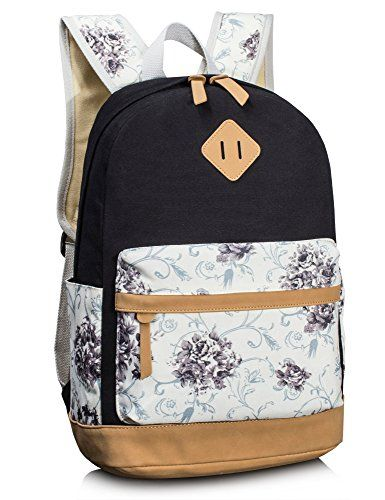 e96fb3189ec0 Amazon.com | Backpack for girls, Fashion Floral College Bags Student ...