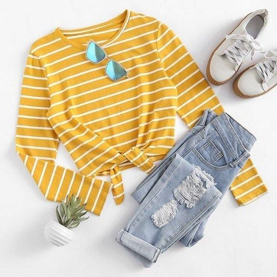 41 Trendy Ideas For Spring Outfits To Copy ASAP #springoutfits #springoutfits2019 #springoutfitsforwomen » Fcbihor.net #schooloutfit