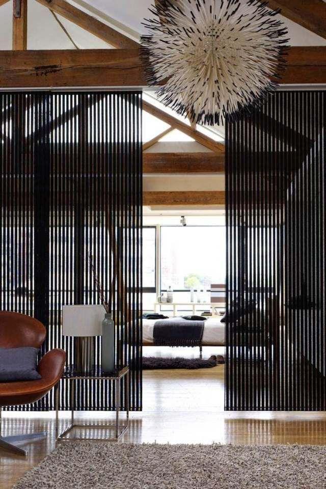 Schiebbare Trennwand-Deckenschiene-ästhetische Ergänzung für - trennwand im wohnzimmer