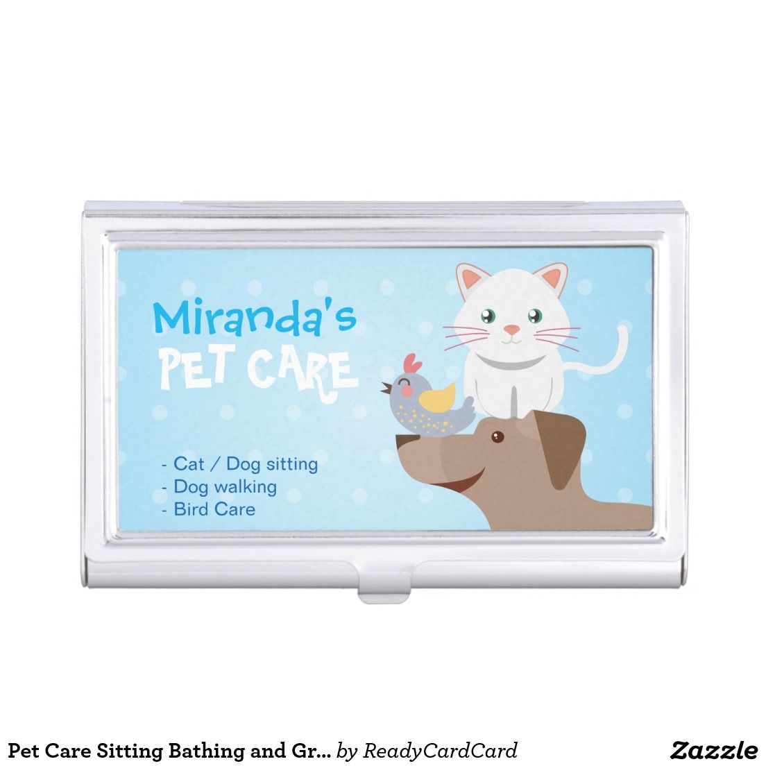 Pet Care Sitting Bathing and Grooming Beauty Salon Business Card ...