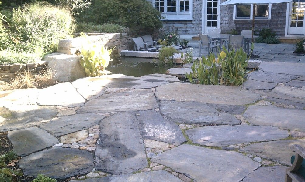 Building At Stone Patio Or Pathway