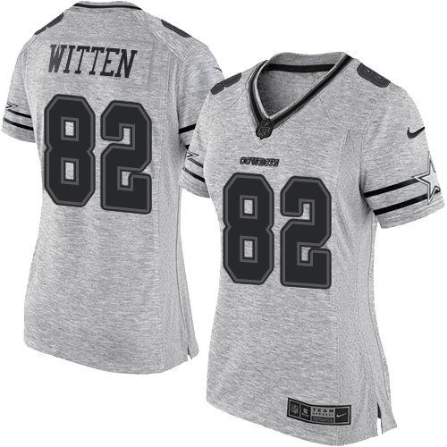 Nike Cowboys  82 Jason Witten Gray Women s Stitched NFL Limited Gridiron  Gray II Jersey And Lamar Miller jersey 4056ccb75