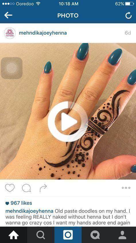 Tattoo Finger Hand Henna Kunst 64+ besten Ideen   - Henna Tattoos-#bes