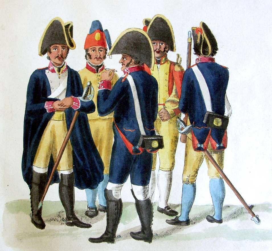 Regimiento de Caballería del Infante. Soldados y trompeta