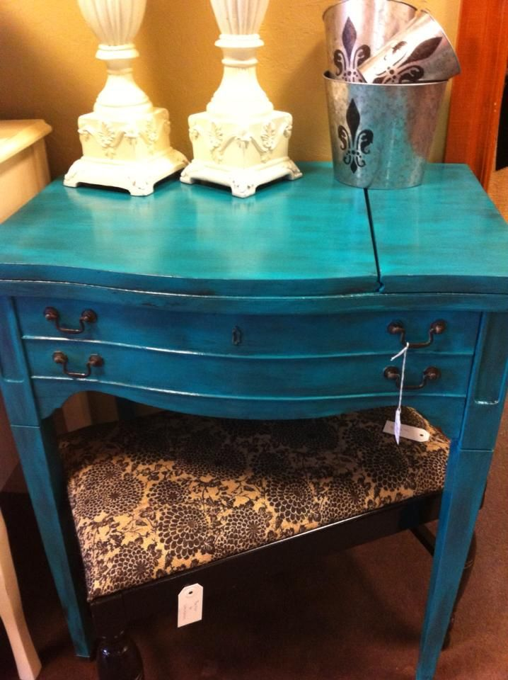 Re-purposed sewing table