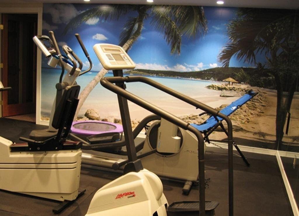 Home Gym Decor Ideas Home Gym Design Inspo Fitness Wall Mural Tropical Wall Mural Home Gym Design Gym Decor Gym Wallpaper