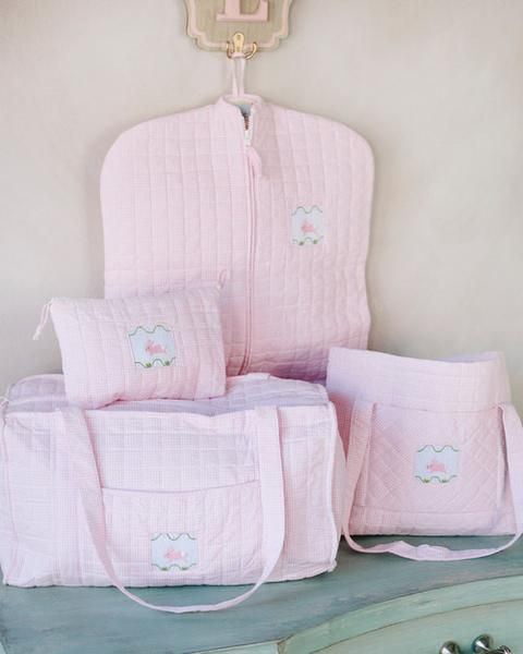 2dd54ab83 $215 for the full set! Girl Quilted Luggage - Little English classic children's  clothing, preppy baby, classic baby, peruvian pima cotton, pima cotton, ...