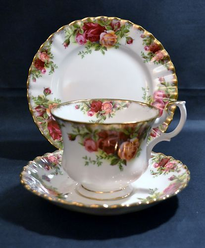 Royal Albert Old Country Roses Trio, Cup, Saucer and Plate