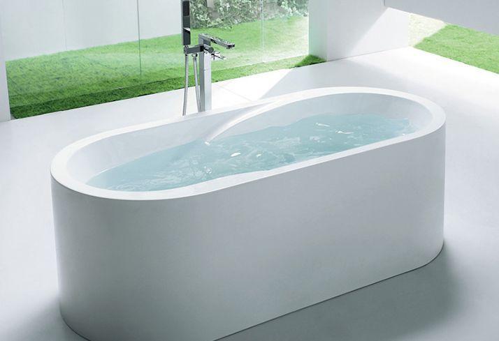 wave  baignoire ilot  blanc  thalassor baignoire en