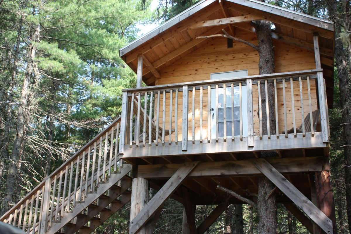 Dormir dans les arbres au camping miramichi famille au - Dans quelle direction dormir ...