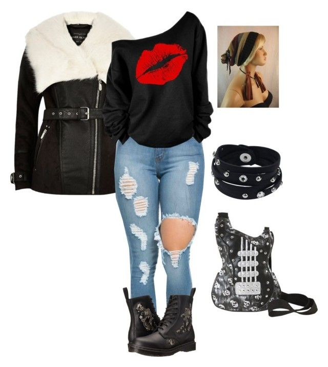 """""""90's Street Flair"""" by latinavixn ❤ liked on Polyvore featuring River Island, Dr. Martens and Vance Co."""