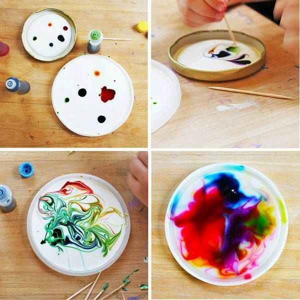 Easy Kids Craft Make Cosmic Suncatchers From Glue And Food Coloring