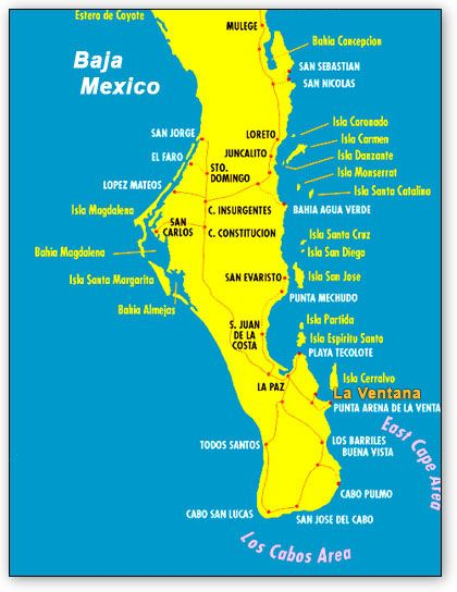 Baja map | Baja California Sur in 2019 | Baja california, Mexico ...