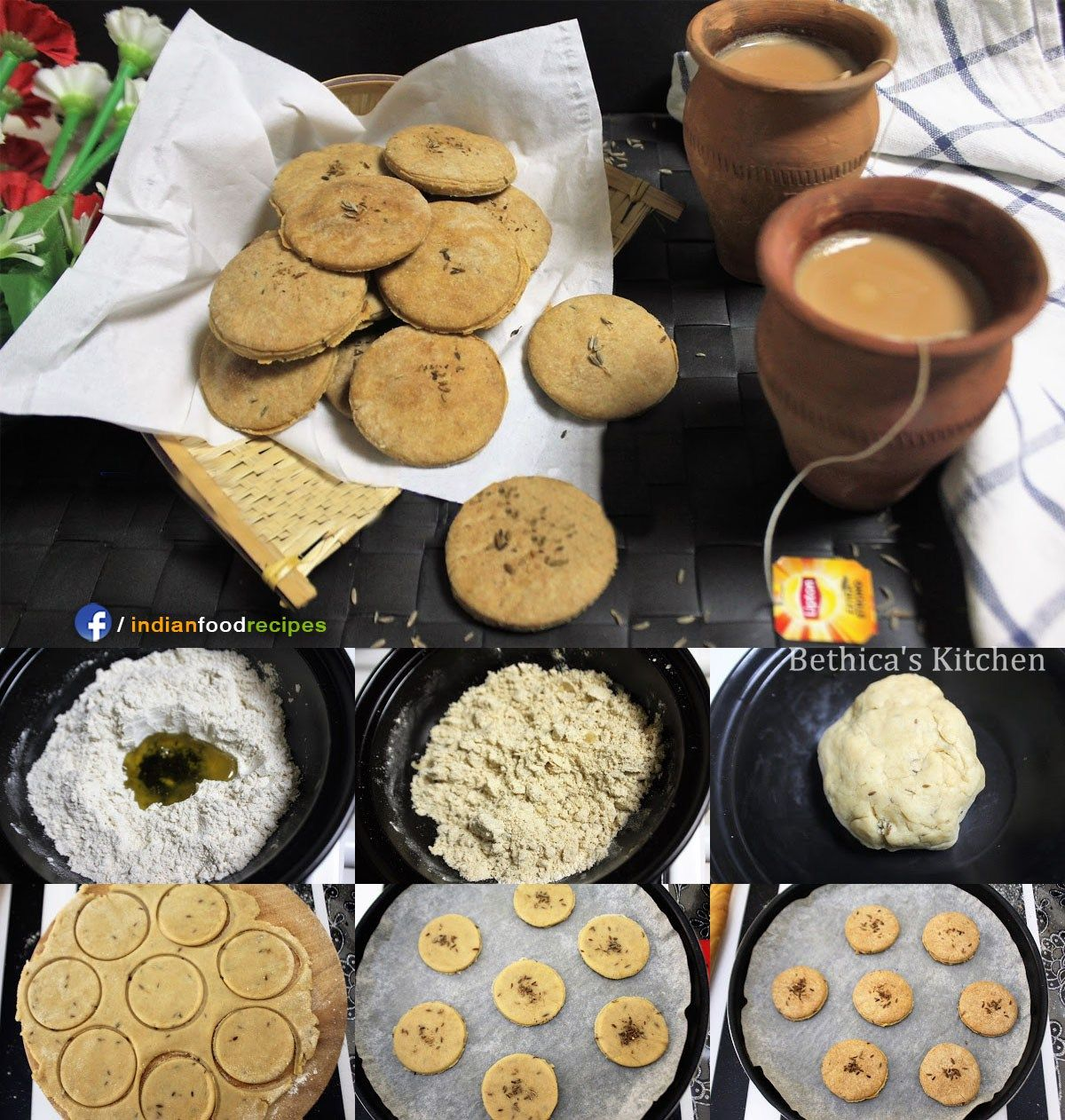 Eggless Whole Wheat Jeera Biscuits Cumin Cookies Recipe Step By Pictures
