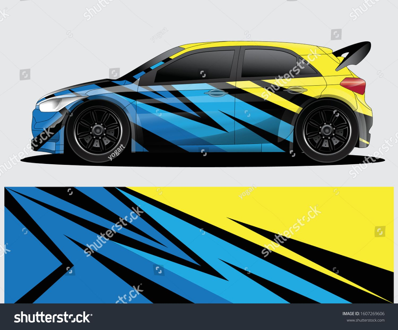 Rally Car Decal Graphic Wrap Vector Stock Vektorgrafik Lizenzfrei 1607269606 In 2020 Vektorgrafik Grafik Bilder