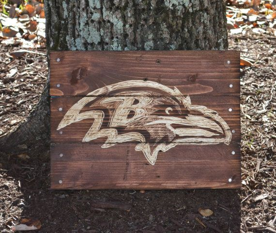 Baltimore Ravens Pallet Wood Art Reclaimed by HarveyPalletDesigns - Baltimore Ravens Pallet Wood Art Reclaimed Wood Sign Pallet Decor