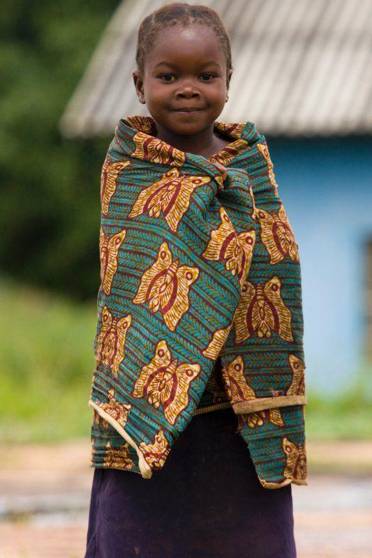Lusaka, Zambia, Africa. Smiling girl.