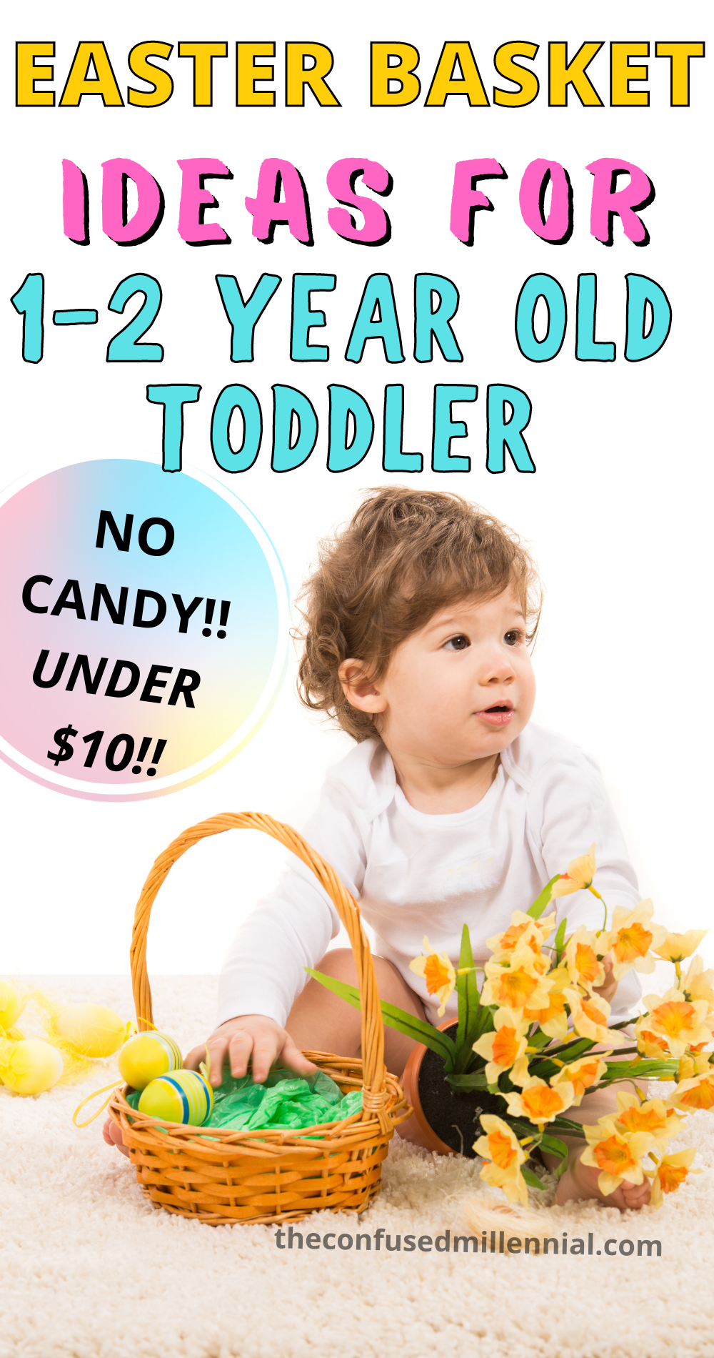 Dollar Tree Easter Basket For 2 Year Old Toddler No Candy The Confused Millennial In 2021 Easter Baskets For Toddlers Easter Baskets Toddler Easter