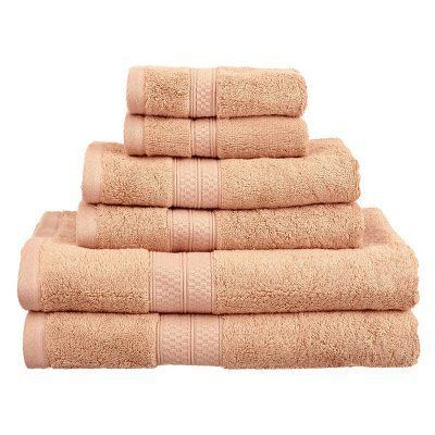 Superior Bamboo 6-Piece Towel Set Salmon - 650GSM 6 PC SET SA, Durable