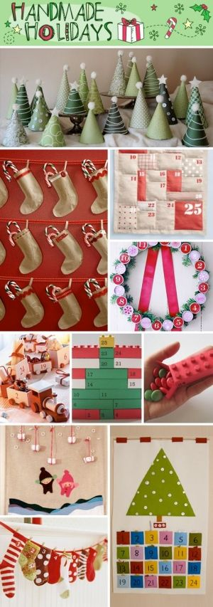 Christmas crafts by nannie activities for learning for Homemade christmas advent calendar ideas