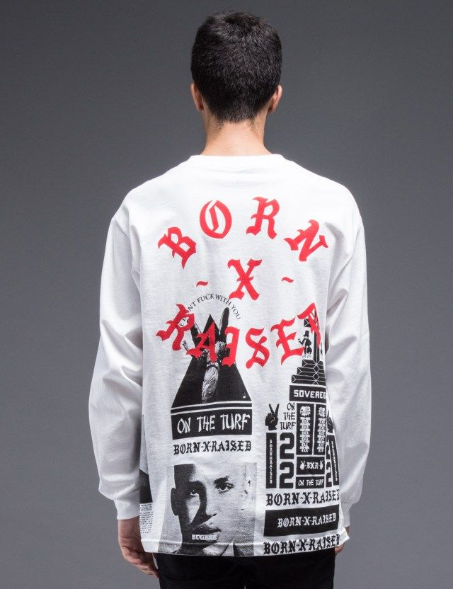 Born x Raised BWR All Over L/S T-Shirt