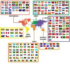 World Flags on a map  flags  Pinterest  Flags Organizations