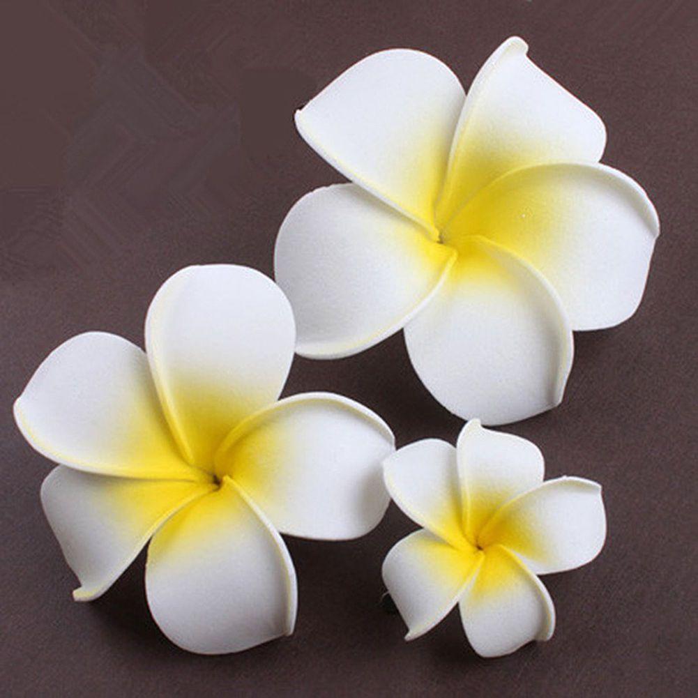 2pc Hawaiian Plumeria White Lily Flower Foam Hair Clip Hair Pins Hair Accessory White Lily Flower Flower Hair Pin Hawiian Flowers