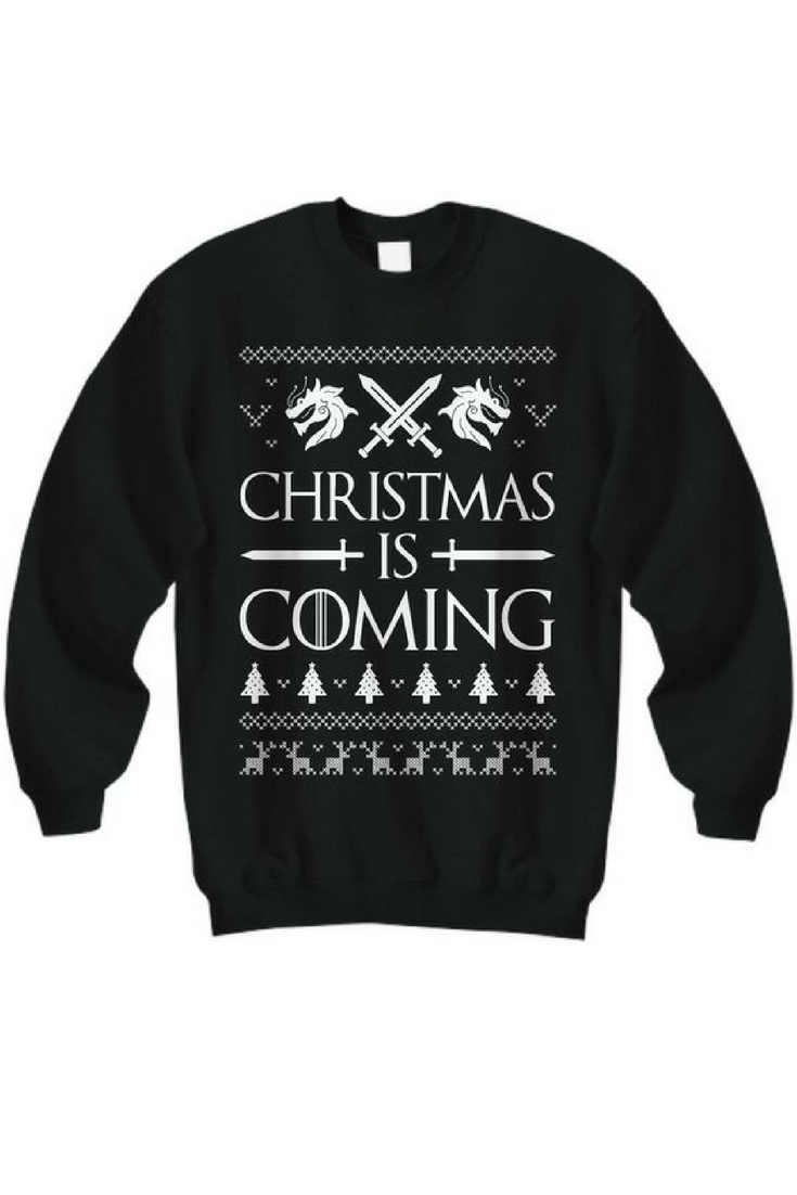 Christmas is coming game of thrones christmas sweater game of