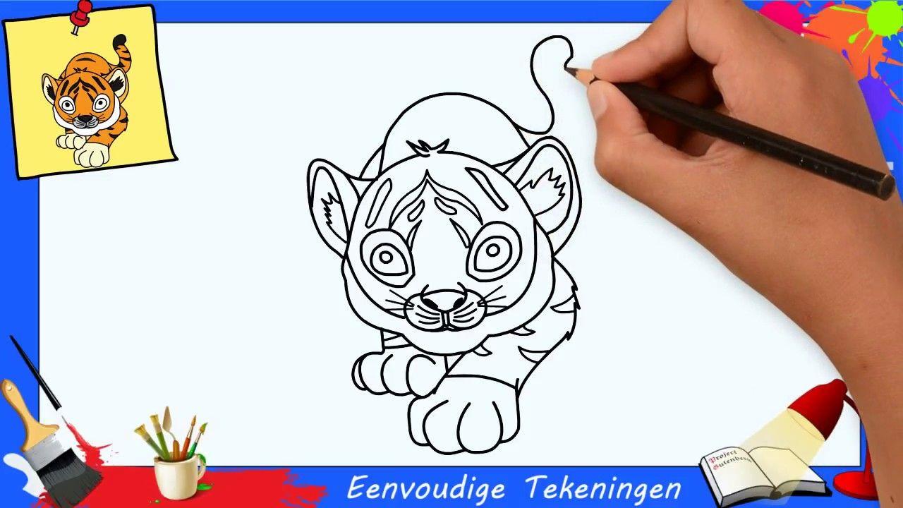 Tijger Tekenen Stap Voor Stap Makkelijk Voor Beginners Kids Kinder 1 Leer Tekenen Tekenen Prentenboeken