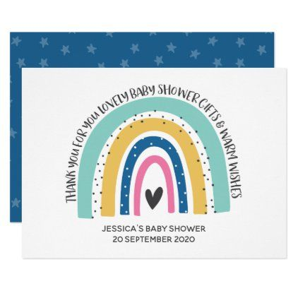 Modern and Simple Hope Rainbow Thank You Card