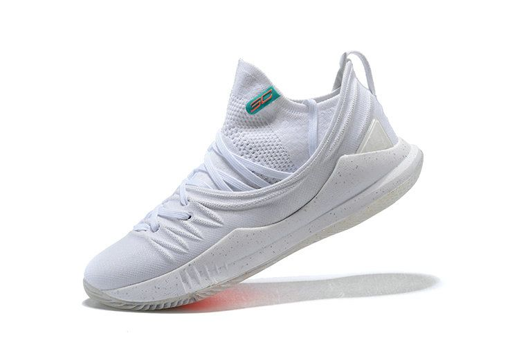 7829d3f05cac 2018 New Authentic UA Under Armour Curry 5 Triple White Size 8. UA Under  Armour Curry 5 Triple White All White Basketball Shoes