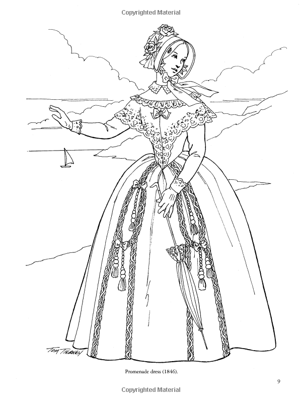 Victorian Fashions Coloring Book (Dover Fashion Coloring