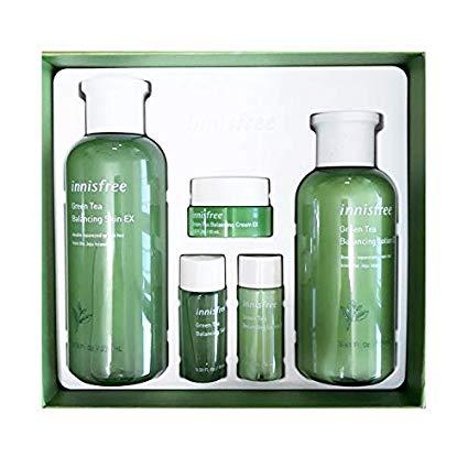 Innisfree Green Tea Balancing Skin Care Set For Normal To Combination Skin 1set 5pcs Skin Care Routine This Pr Skincare Set Skin Care Kit Skin Balancing