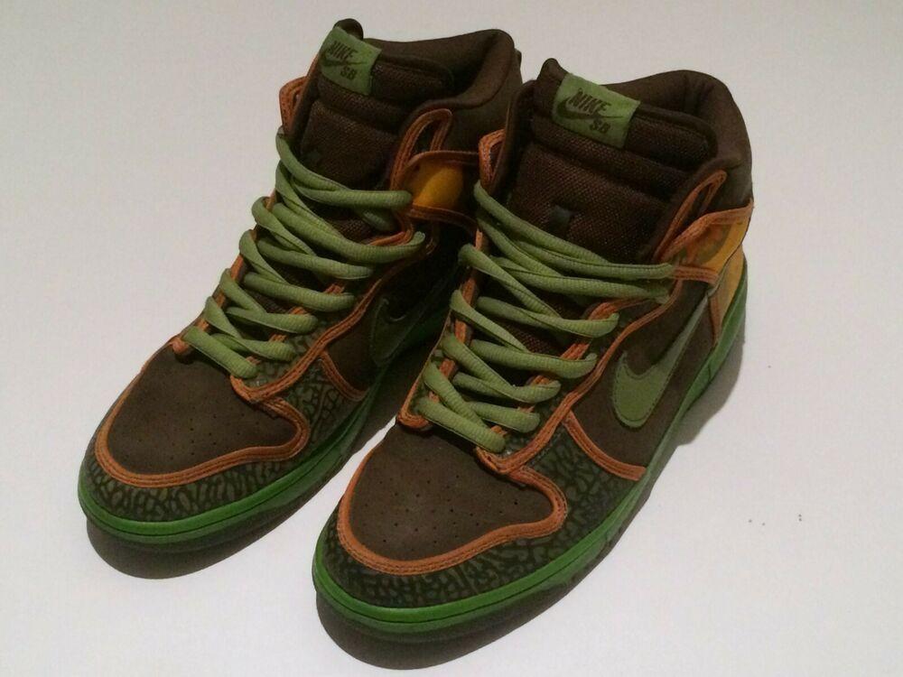 """timeless design c0e6d 7e384 2005 Nike SB Dunk High """"De La Soul"""" -RARE - 14 yrs old - Excellent condition"""