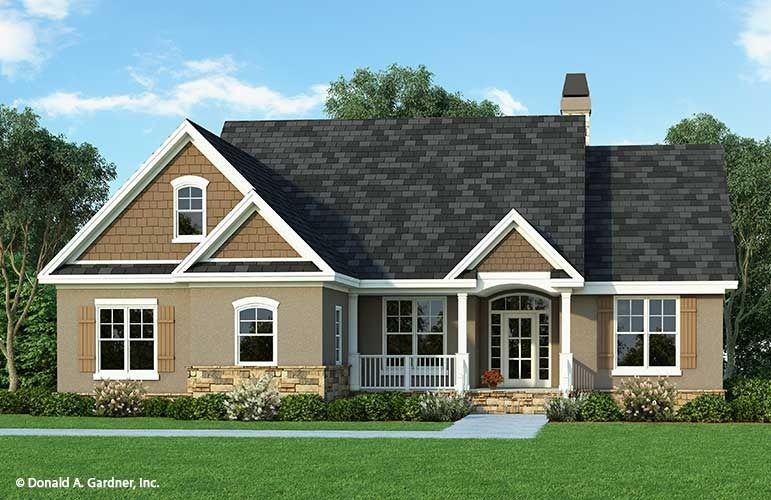 Home Plan The Tanglewood By Donald A Gardner Architects Craftsman House Plans Craftsman Style House Plans Bungalow House Plans