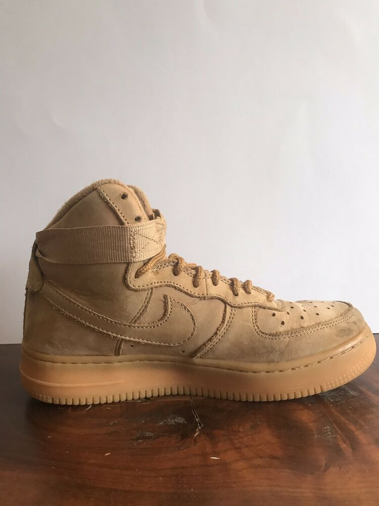 Old Nike Air Force 1 boys size 4.5 high tops basketball shoes Red