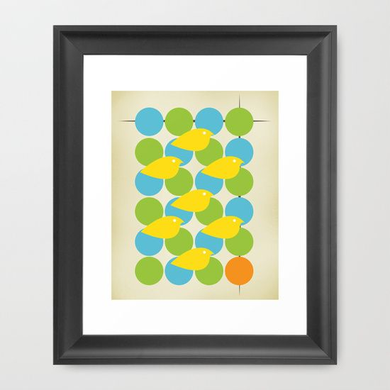 Buy MidCentury Bird Pattern by Amy Newhouse as a high quality Framed Art Print. Worldwide shipping available at Society6.com. Just one of millions of products available.