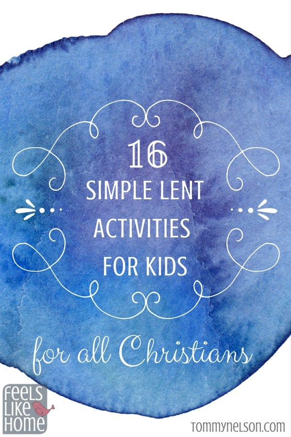 We have always wanted to observe Lent with our kids, but we have never been able to figure out how to do it well with little ones. This super smart post suggests 16 ways for all Christians to observe Lent with their kids!